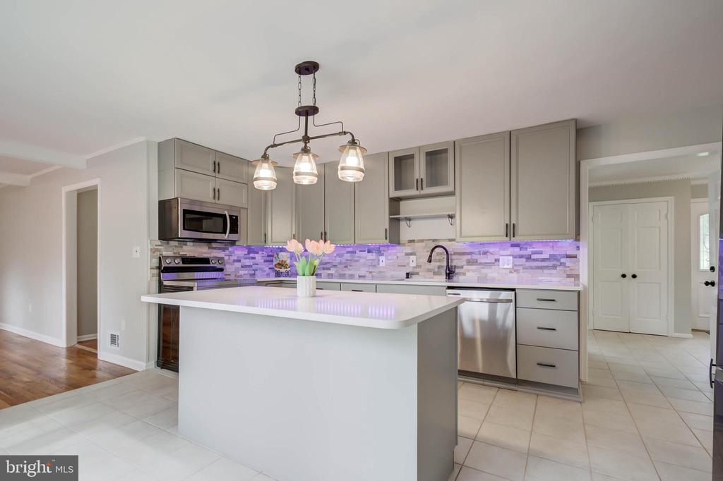 BRAND NEW LARGE CENTER ISLAND, QUARTZ COUNTERS - 13832 TURNMORE RD, SILVER SPRING