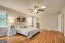 Hardwood floors and ceiling fan in Primary bedroom - 13832 TURNMORE RD, SILVER SPRING
