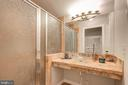 Remodeled walk-in shower - 13832 TURNMORE RD, SILVER SPRING