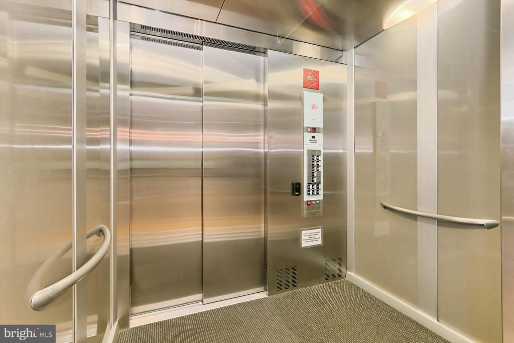 Elevator goes directly to condo - 1700 N CLARENDON BLVD #123, ARLINGTON