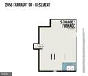 Lower Level Floor Plan - 2056 FARRAGUT DR, STAFFORD