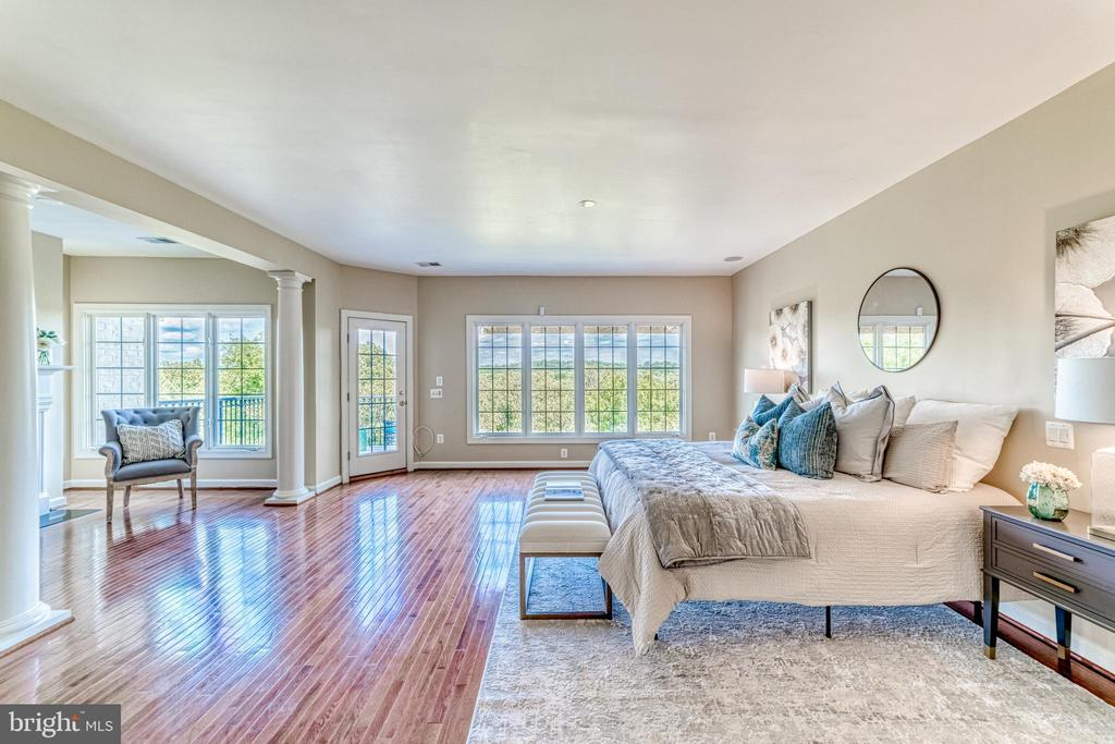 Luxe owners' bedroom with incredible views - 18362 FAIRWAY OAKS SQ, LEESBURG