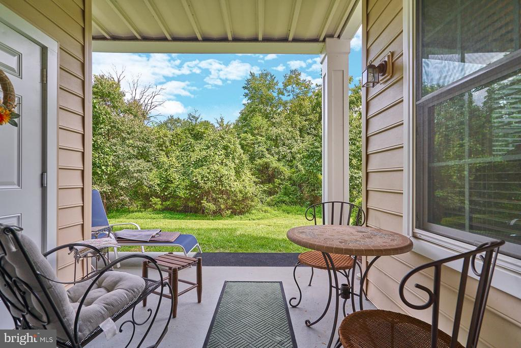 Patio View to Trees - 15231 ROYAL CREST DR #104, HAYMARKET