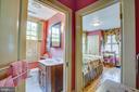 Another hallway leads to back bedroom/bath - 1501 CAROLINE ST, FREDERICKSBURG