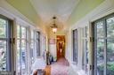Hallway leading from main house to addition - 1501 CAROLINE ST, FREDERICKSBURG