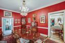 Dining Room leads to pantry/kitchen & Living Room - 1501 CAROLINE ST, FREDERICKSBURG