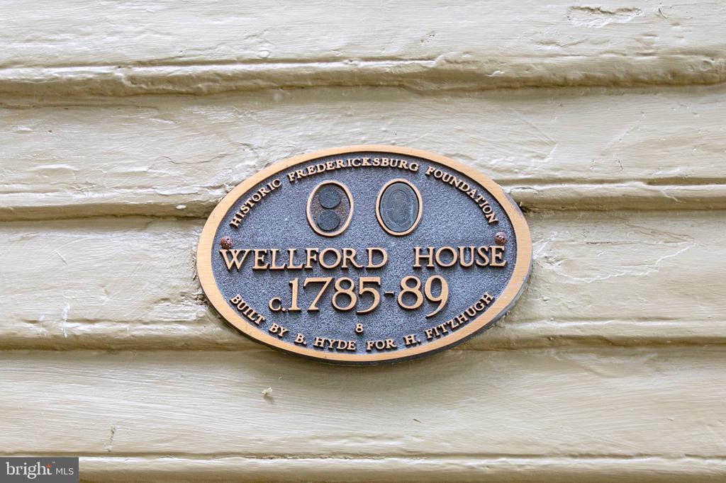 Construction began in 1785 - 1501 CAROLINE ST, FREDERICKSBURG