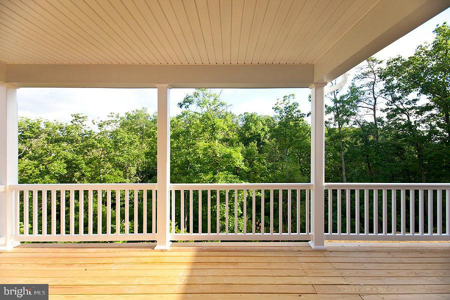 Exterior Deck, partially covered. - 107 HAROLD CT, WINCHESTER