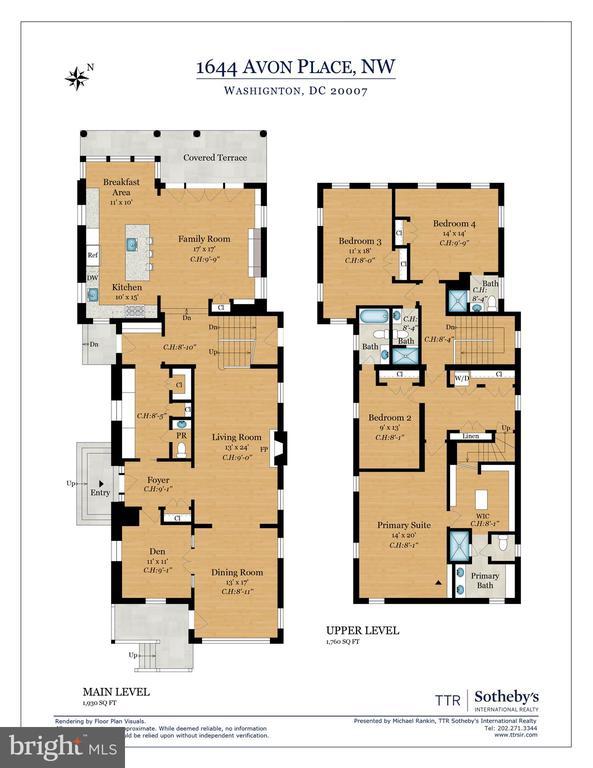 Floor Plan 1 - 1644 AVON PL NW, WASHINGTON