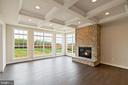 Optional stone fireplace & coffered ceiling - PURCELLVILLE RD, PURCELLVILLE