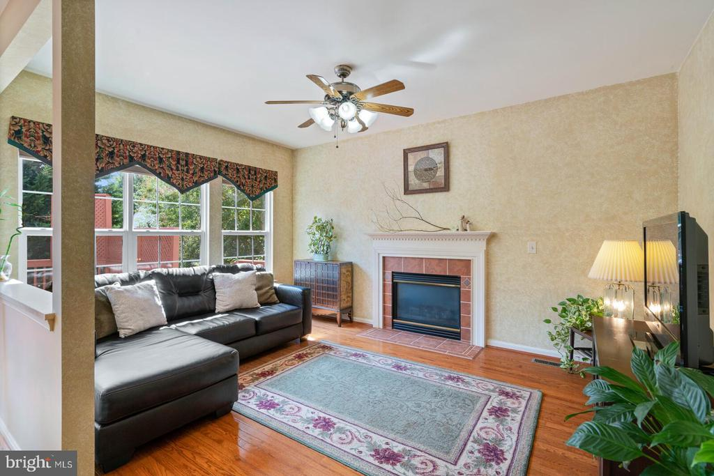 Family room with firepplace - 10 CANDLERIDGE CT, STAFFORD