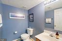 Half bathroom in the basement - 10 CANDLERIDGE CT, STAFFORD
