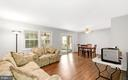Living room/ dining area - 2036 FIRE TOWER LN, IJAMSVILLE