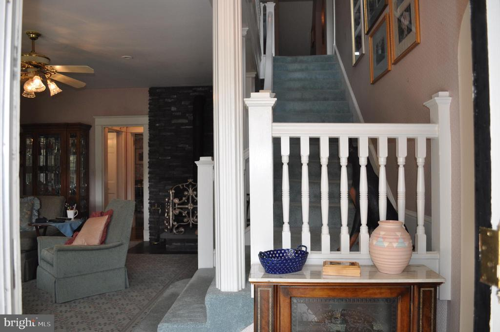 Staircase with original railings - 11690 FREDERICK RD, ELLICOTT CITY