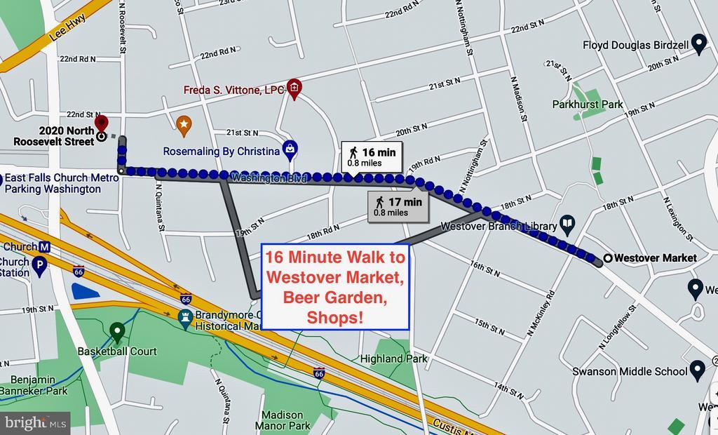 16 minute walk to Westover Market, Beer Garden.... - 2020 N ROOSEVELT ST, ARLINGTON