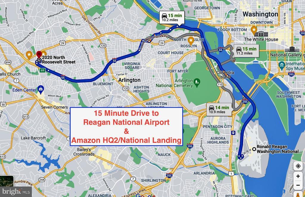 15 minute drive to Regan Airport, Amazon HQ2s - 2020 N ROOSEVELT ST, ARLINGTON