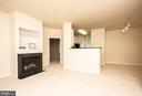 From living room view of kitchen and dining area - 42531 ROCKROSE SQUARE #102, ASHBURN