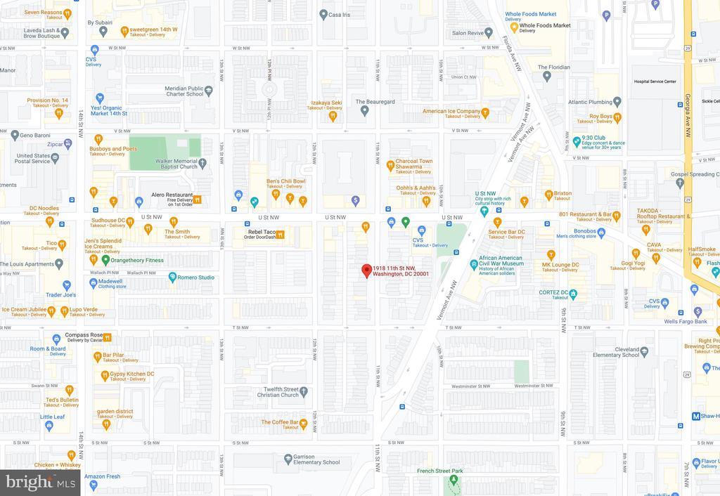 Area Map - 1918 11TH ST NW #B, WASHINGTON
