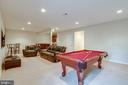 Great Lower Level Recreation Room - 42972 THORNBLADE CIR, BROADLANDS