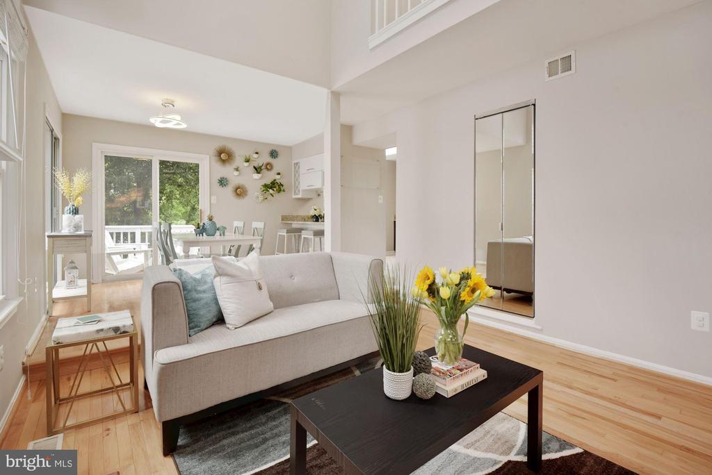 Living Room - So Light, Bright, Open, & Airy! - 8423 HOLLIS LN, VIENNA