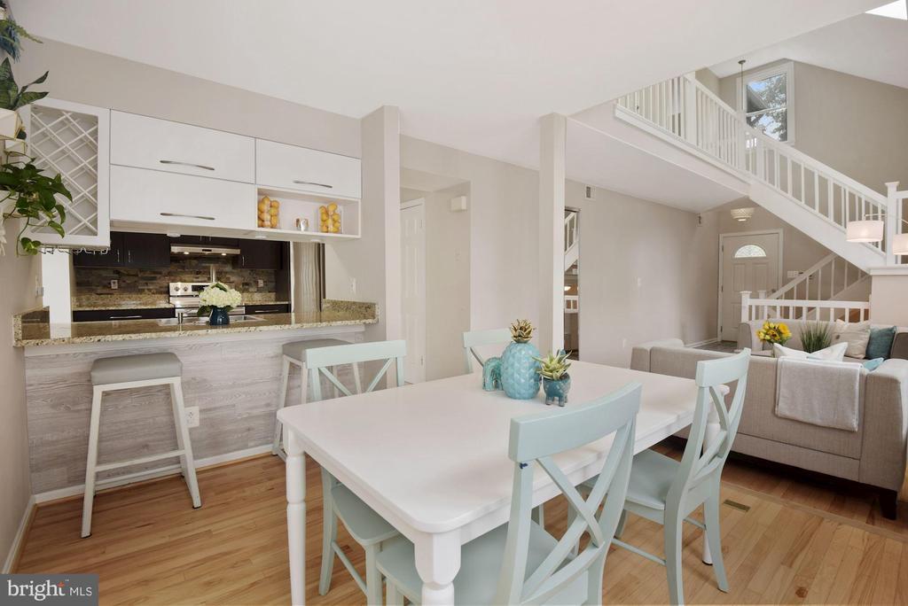 Dining Room - Hardwood Floors! - 8423 HOLLIS LN, VIENNA