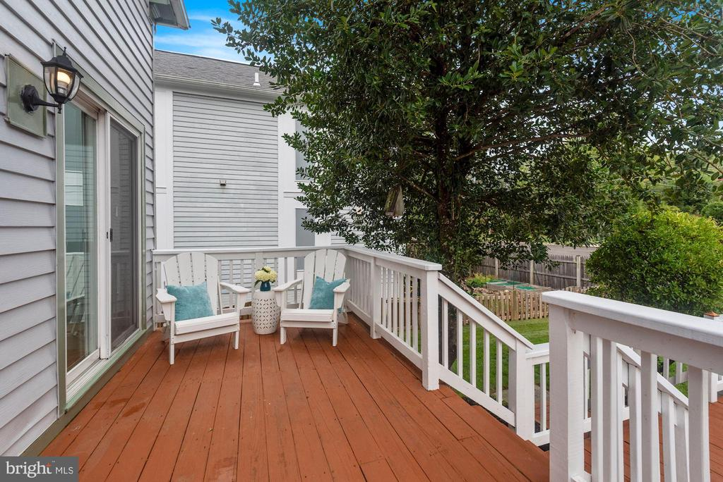 This is Deck #1 (in a Multi-Tiered Deck Situation) - 8423 HOLLIS LN, VIENNA