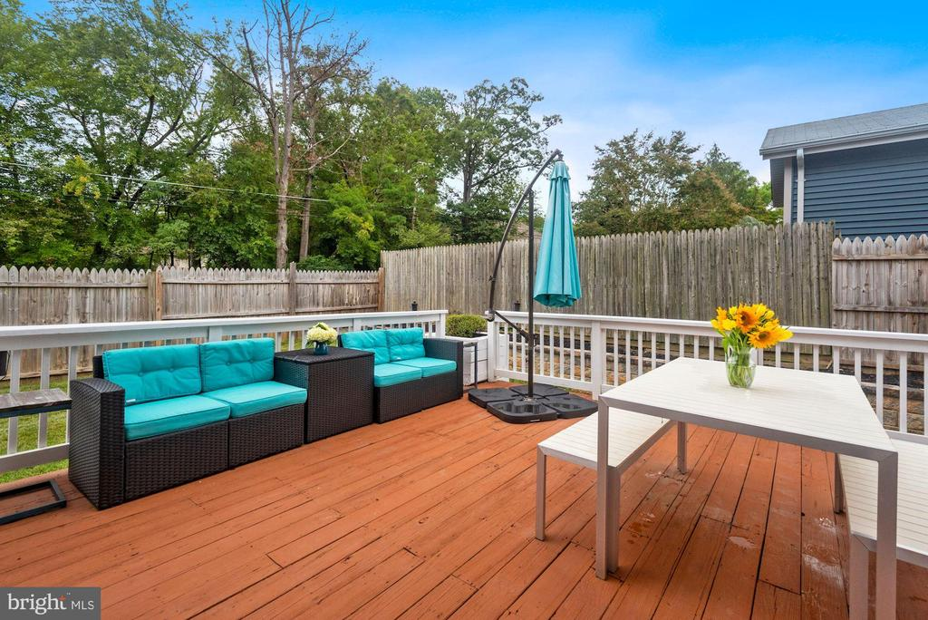Deck #2 - These Decks are MADE for Entertaining! - 8423 HOLLIS LN, VIENNA