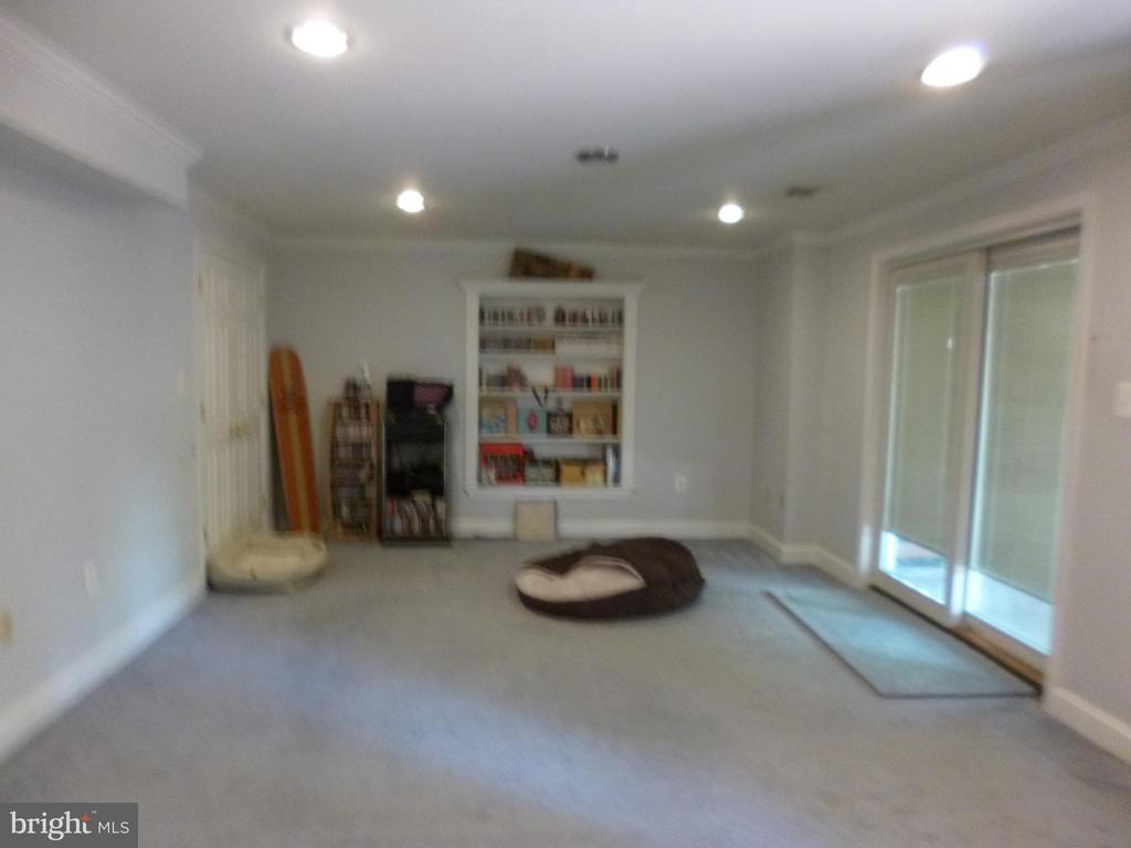 Rec Room in basement leads to deck - 4204 AVON DR, DUMFRIES