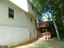 Exterior with tiered decking - 4204 AVON DR, DUMFRIES