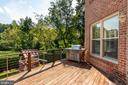 Deck off Kitchen & Family Room - 1910 ARMAND CT, FALLS CHURCH