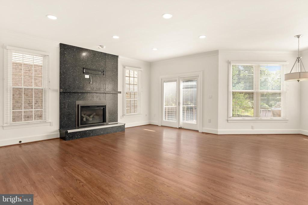 Family Room with gas fireplace - 1910 ARMAND CT, FALLS CHURCH