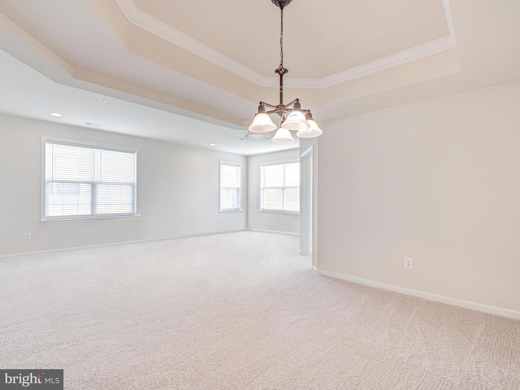 Dining area with coffered ceiling - 43610 HAMPSHIRE CROSSING SQ #AD-205, LEESBURG