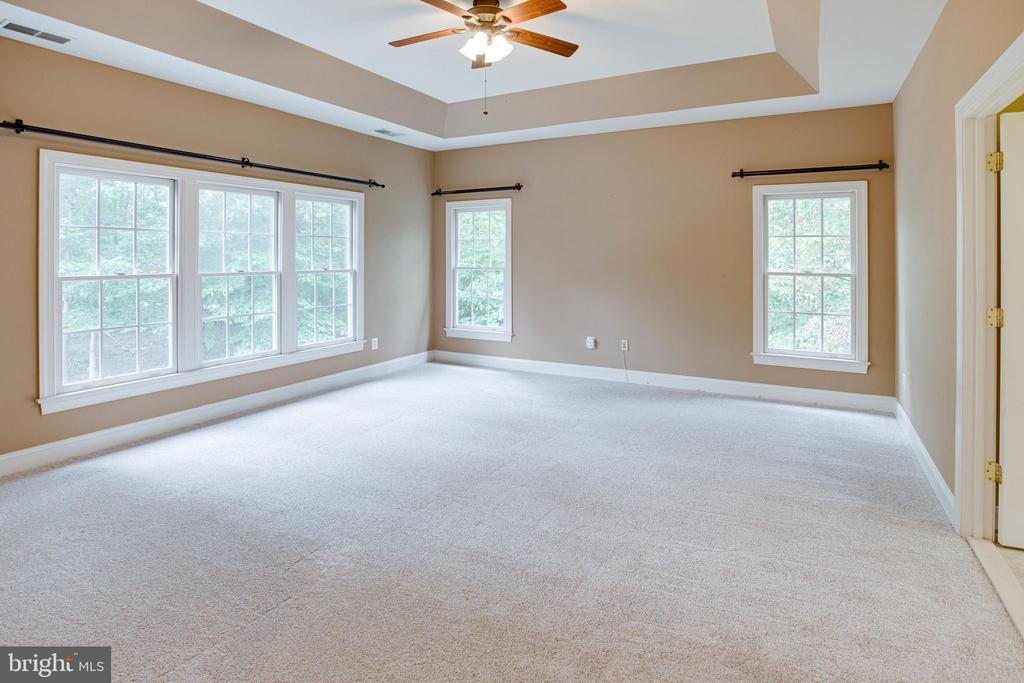 Master bedroom with beautiful tray ceiling - 4525 MOSSER MILL CT, WOODBRIDGE