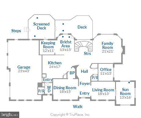 Main level floor plan - 19186 CHARANDY DR, LEESBURG