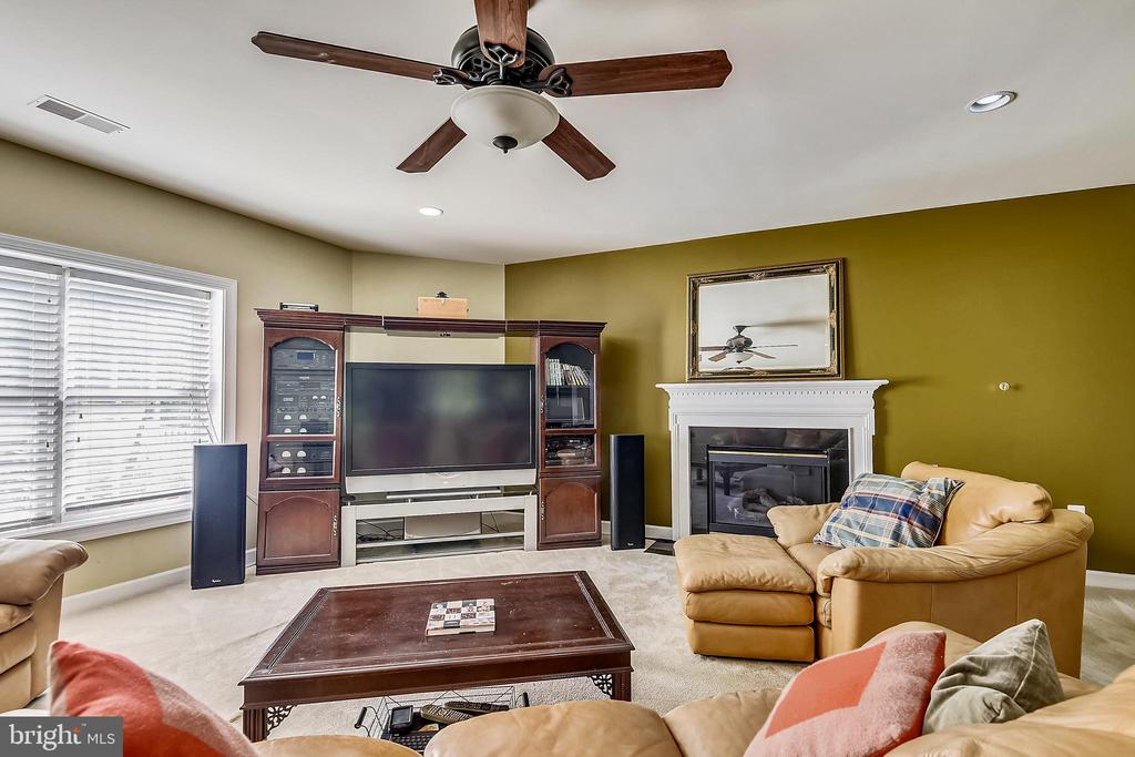 Fireplace on lower level - 19186 CHARANDY DR, LEESBURG