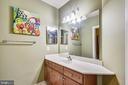 Full bathroom on lower level - 19186 CHARANDY DR, LEESBURG
