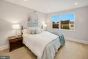 Bedroom #2 with custom Sheers and Blackout Shades - 1918 11TH ST NW #B, WASHINGTON