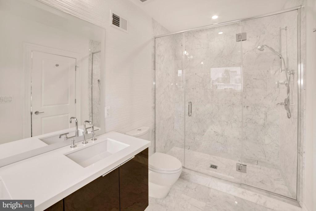 Bath #2 Glass Shower Doors Marble Tile - 1918 11TH ST NW #B, WASHINGTON