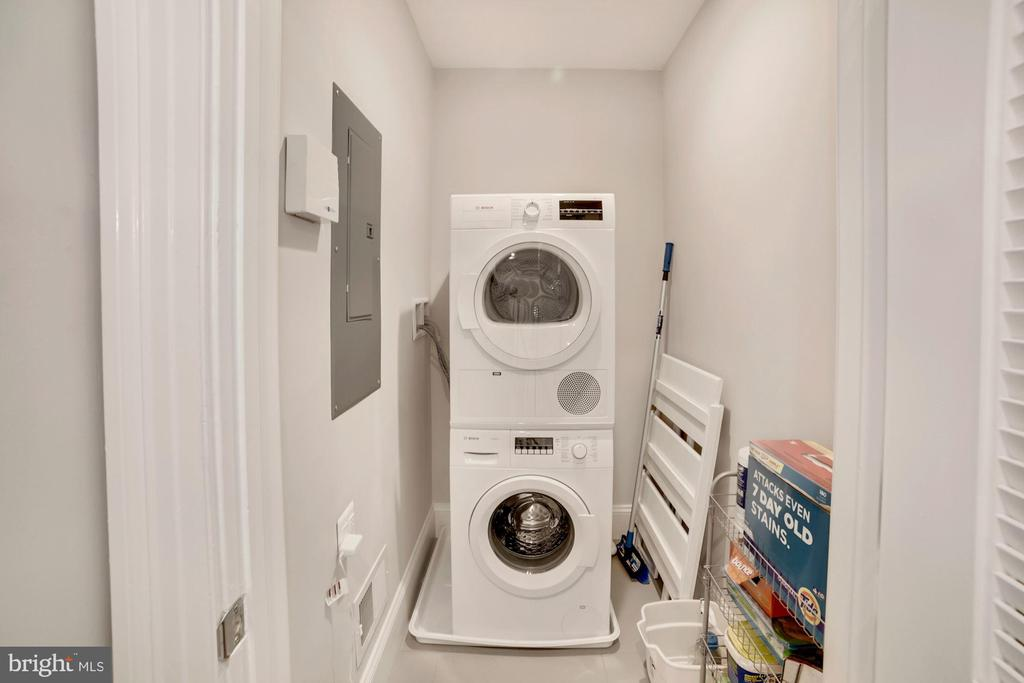 Laundry Room with Bosch Washer/Dryer - 1918 11TH ST NW #B, WASHINGTON
