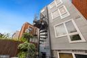 Rear Exterior and Staircase to Parking Space - 1918 11TH ST NW #B, WASHINGTON