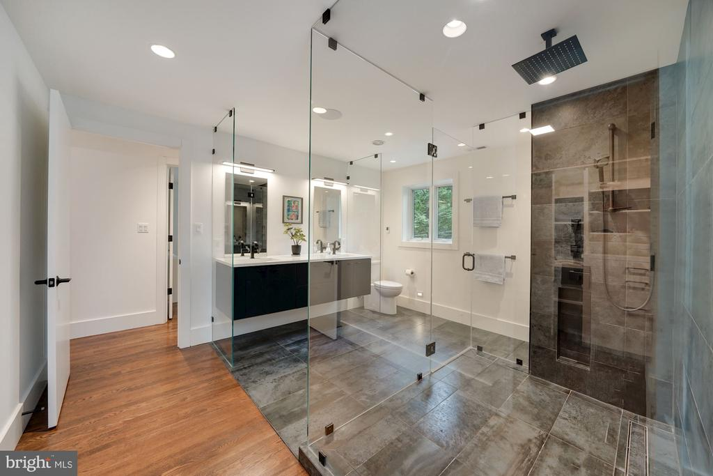 Primary Bath Walk-In Shower with Glass Surround 2 - 6649 VAN WINKLE DR, FALLS CHURCH