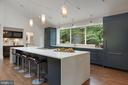 Kitchen Island with Waterfall Counter 2 - 6649 VAN WINKLE DR, FALLS CHURCH