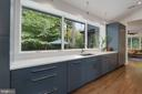 Kitchen overlooking Private Yard! - 6649 VAN WINKLE DR, FALLS CHURCH