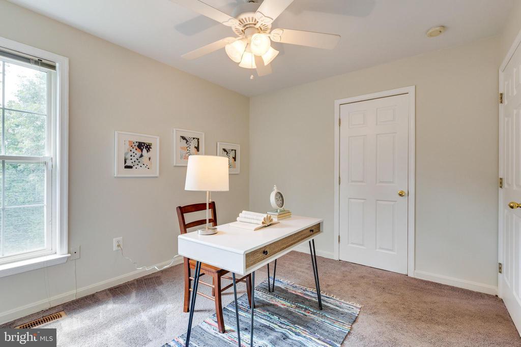 Bedroom #2 w/Ceiling Fan & Closet Space - 7617 STRATFIELD LN, LAUREL