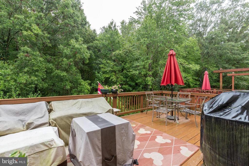 Large deck - 7157 LAKE COVE DR, ALEXANDRIA