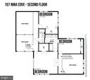 Second Level Floor Plan - 107 NINA CV, STAFFORD