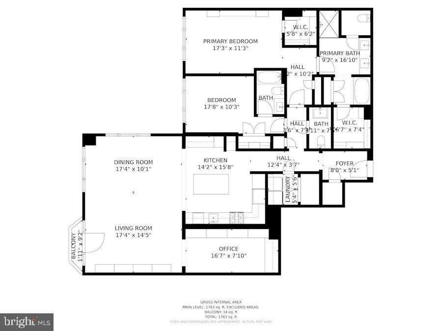 Floor Plans - 7710 WOODMONT AVE #1102, BETHESDA