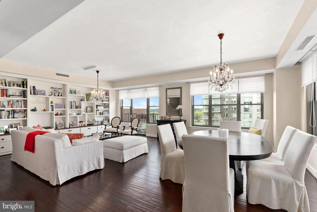Dining Room/Living Room - 7710 WOODMONT AVE #1102, BETHESDA