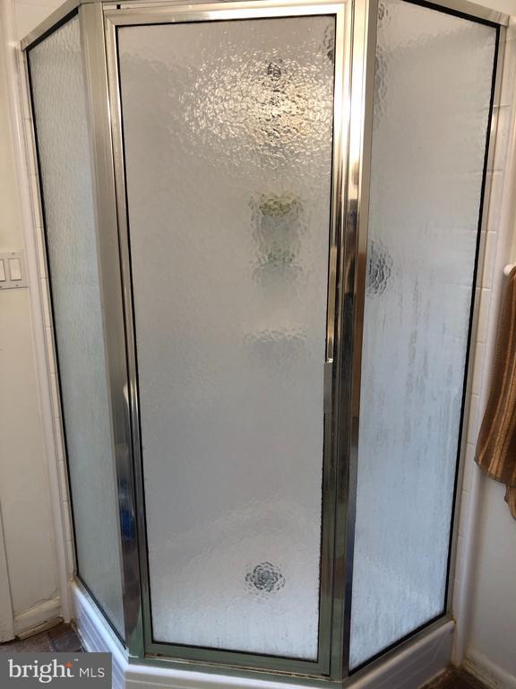 Shower in lower level full bath - 4 DONALDS LN, MOUNT AIRY