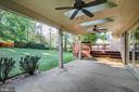 Rear Porch Concrete Patio - 14136 CRICKET LN, SILVER SPRING